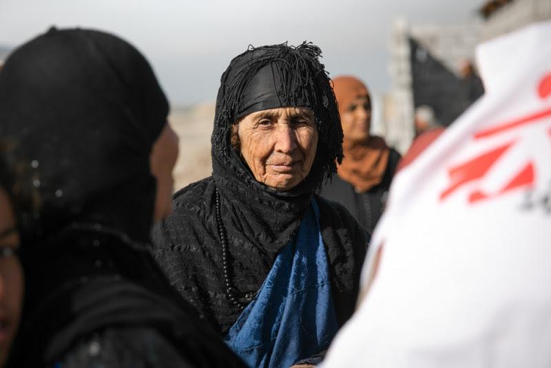 <p>Un grupo de mujeres desplazadas enKirkuk.</p>