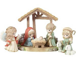 Precious moments a child is born nativity figurines, 6-piece set