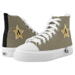 Personalize: Black and Gold Twinkle Star High Tops Printed Shoes