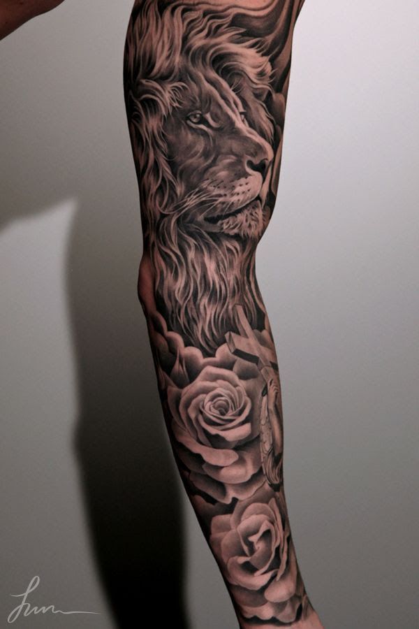Lion And Black Rose Tattoo Tattoomagz