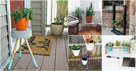 10 Easy DIY Outdoor Plant Stands To Show Off Those Patio Plants In Style