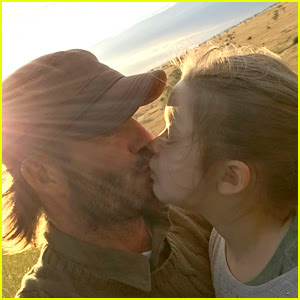 David Beckham Defends Kissing His Kids on the Lips