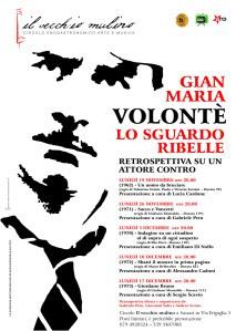 locandina_retrospettiva Gian Maria VOLONTE' al VECCHIO MULINO di Sassari