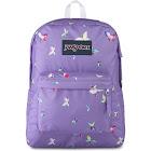 JanSport Girls' Superbreak Backpack Purple/Butterfly/Multi
