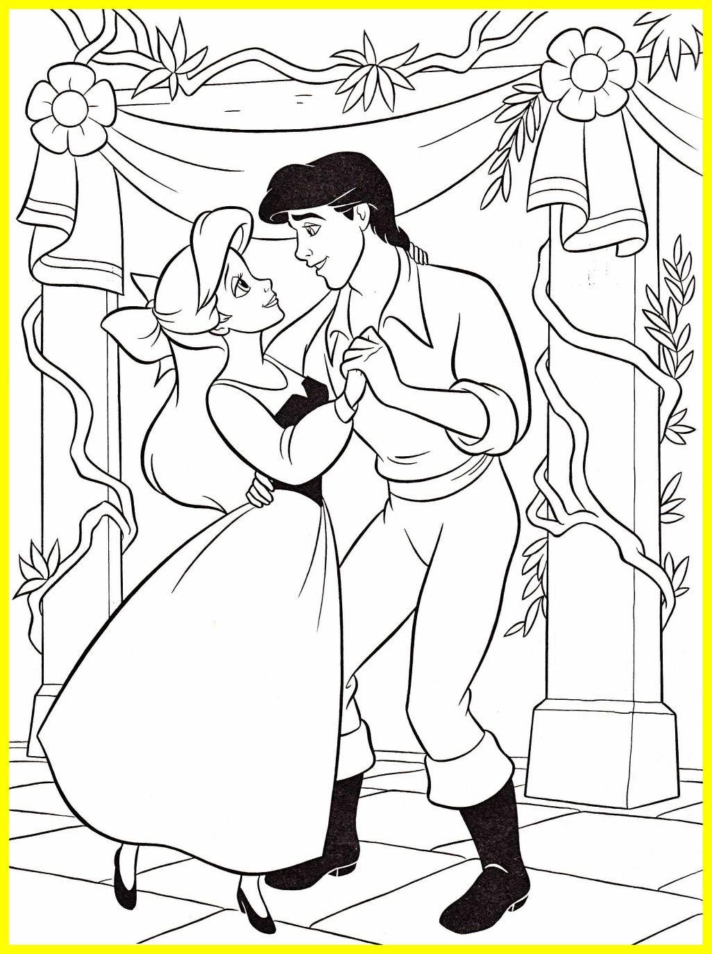 Disney Princess Ariel And Eric Coloring Pages at ...