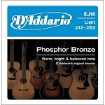 D'addario Ej16 Light Phosphor Bronze Acoustic Guitar Strings