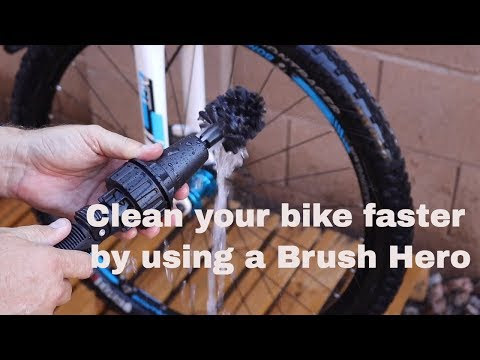 Brush Hero makes cleaning your bike faster