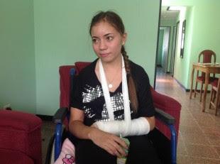 Daniela Álvarez, sobreviviente a accidente en Jacó el jueves anterior.