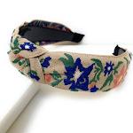 Embroidered Knot Headband, Hair Accessories for Women, Handmade Headbands