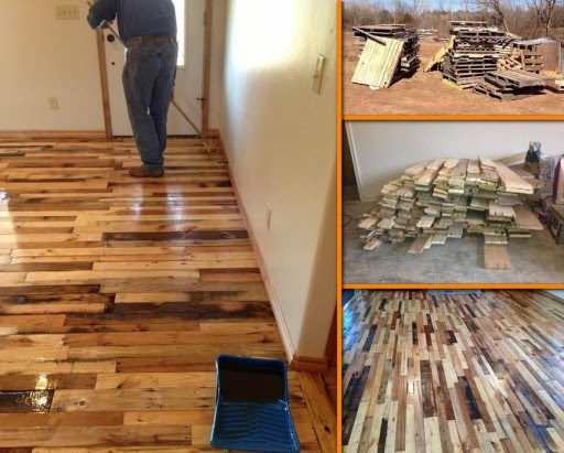 How To Make Pallet Hardwood Floor | How To Instructions