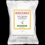 Burts Bees - Facial Cleansing Towelettes with Cotton Extracts - For Sensitive Skin (30 Wipes) - Dry/Sensitive