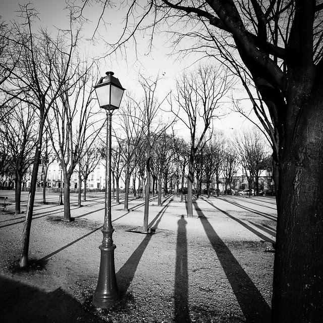 Lamppost and shadows