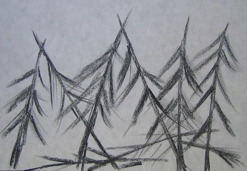 Trees drawings by Matthew Felix Sun 3