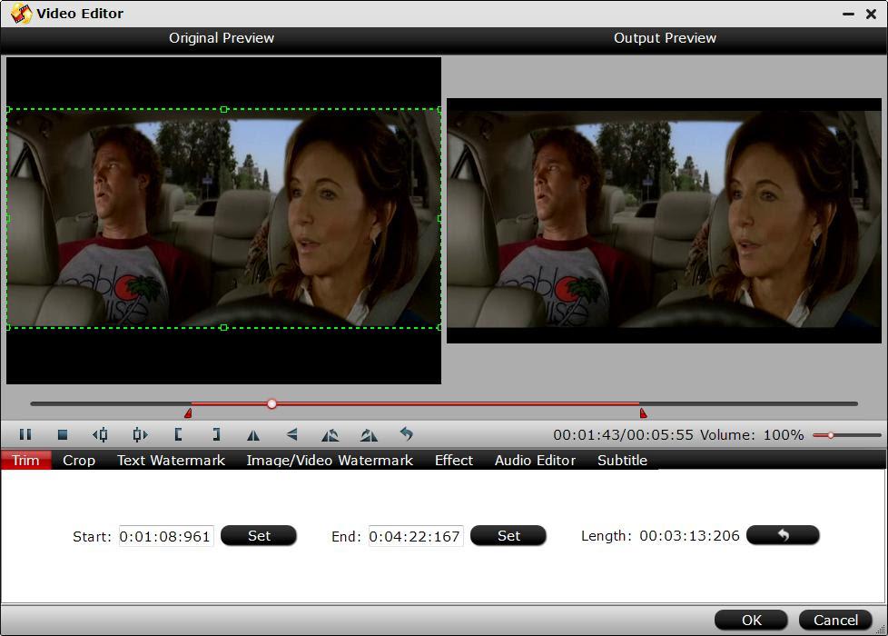 Crop MP4 video file size