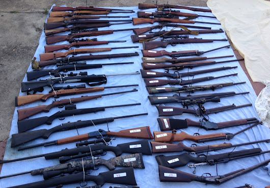 Australian police find 328 guns, 4.2 tons of ammo at farm