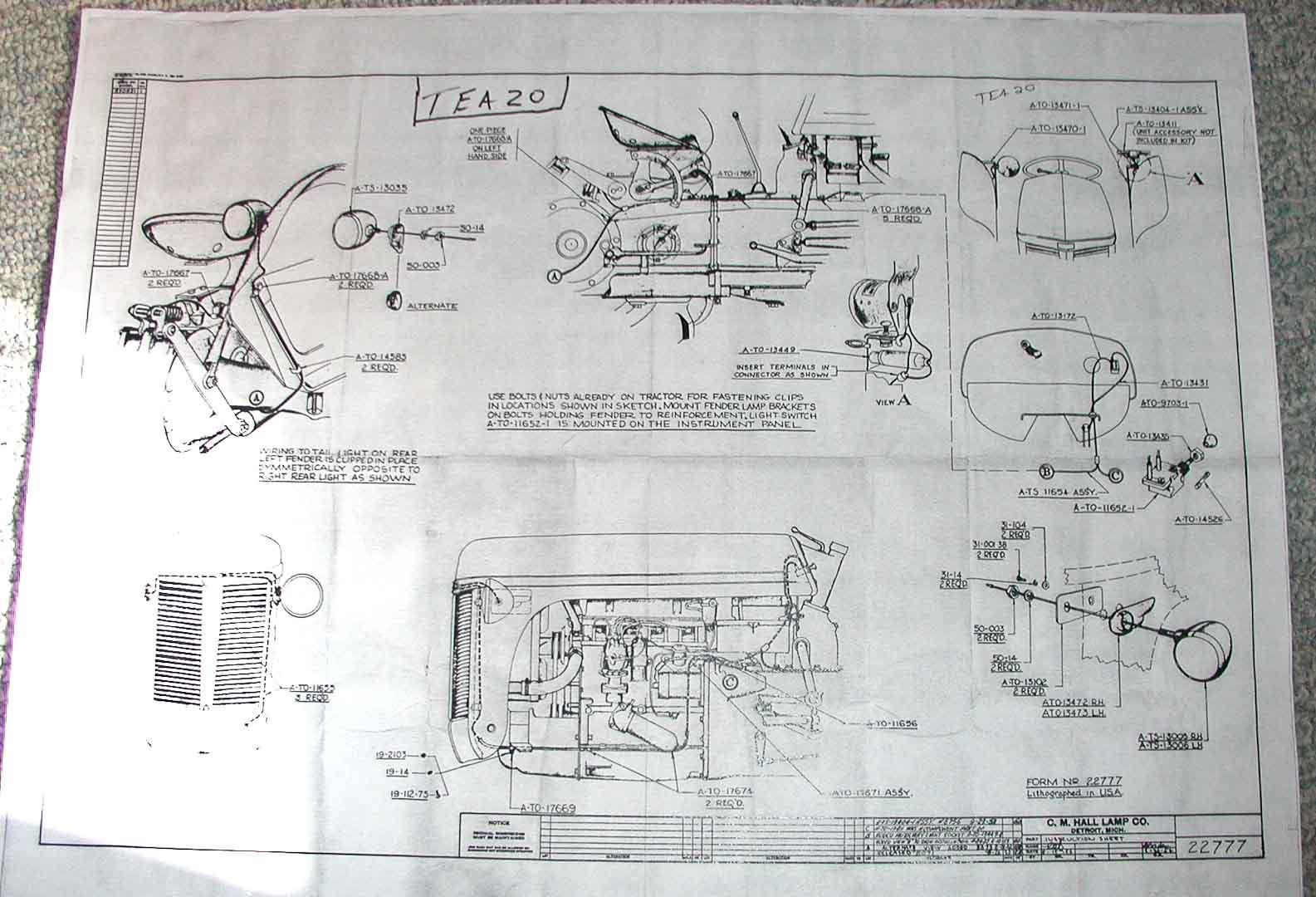 Massey Ferguson 165 Diesel Wiring Diagram