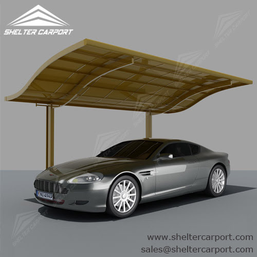 Large Aluminum Carport with Waves Top