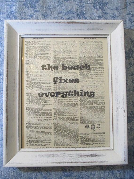 Beach Fixes Everything Artwork