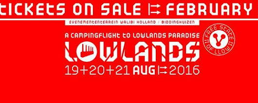 Lowlands 2016 line up: Stage times, schedule and clashes - Indieófilo