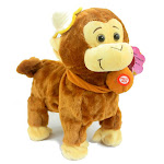 Robot Animal Toys Talking Monkey Smart New Rc Pet Robot For Children Walking Toys Robo Pet Electronic Intelligent Animal Plush Brown