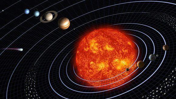 En 45 segundos este modelo sintetiza la aparición de nuestro sistema planetario en el interior de una burbuja de gas y polvo.