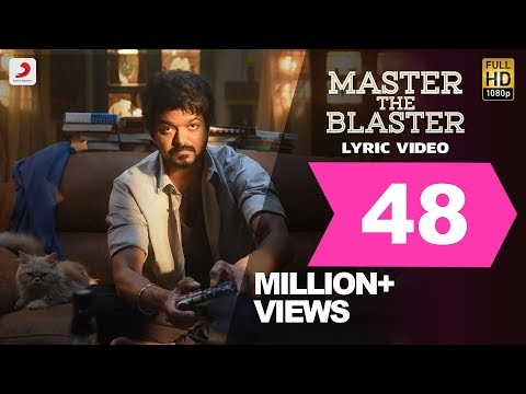 MASTER THE BLASTER LYRICS MASTER | Tamil Movie