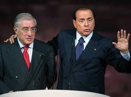 Marcello Dell Utri con Silvio Berlusconi