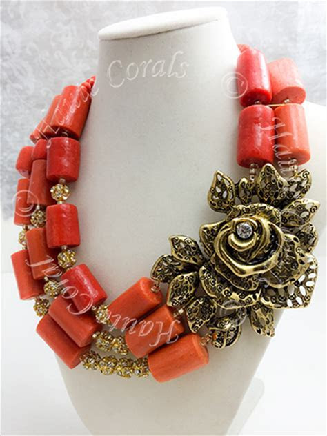 NneUkwu  African Traditional Coral Beaded Necklace Set
