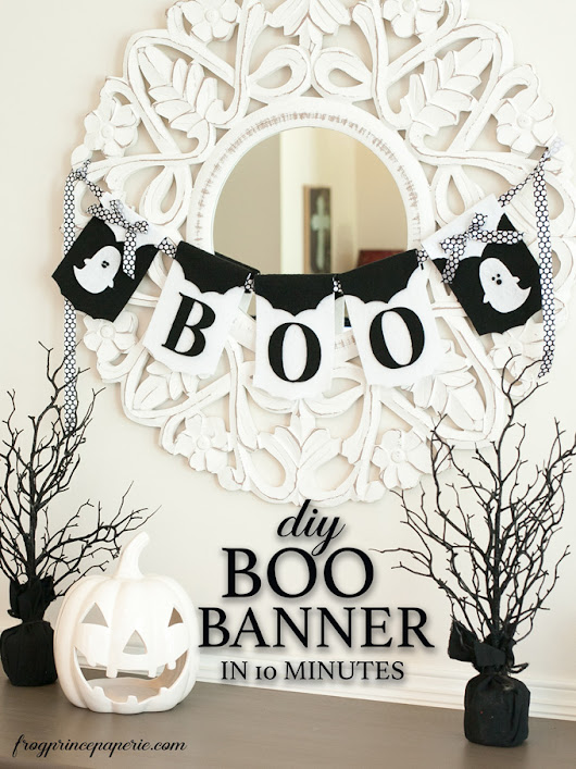 DIY Boo Banner in 10 Minutes - Frog Prince Paperie