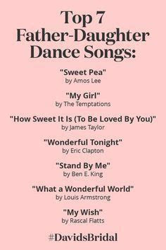 Top Father Daughter Dance Songs   David's Bridal:   101417