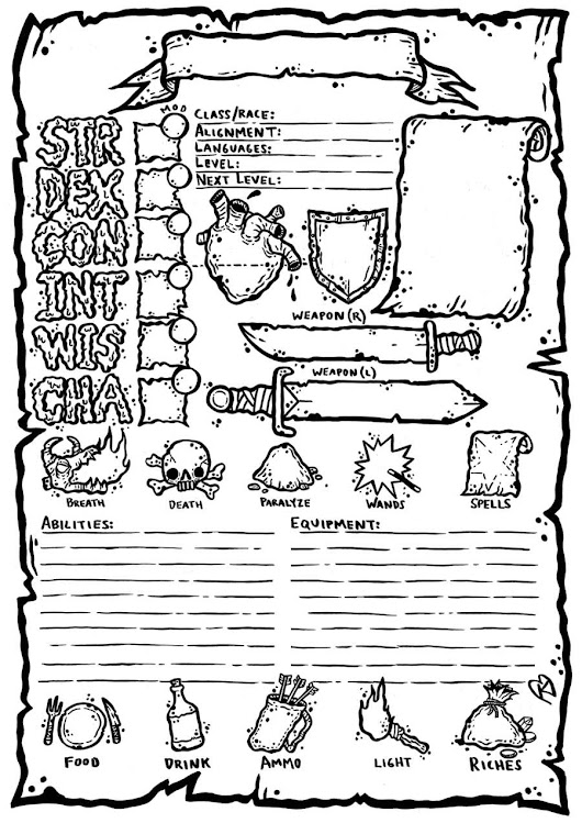 dnd 5 e character sheet fillable pdf