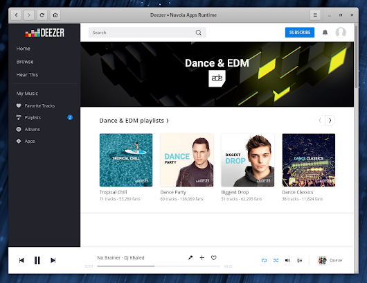 Nuvola Integrates Repeat & Shuffle Status, Adjusts to New Deezer Design, And More