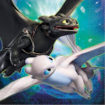 How To Train Your Dragon 3 Lunch Napkin (16) - 96011 - Pack of 16 - Blue/Green