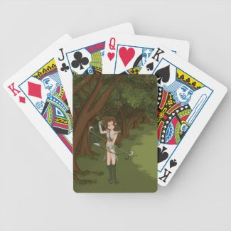 Taren the Archer Warrior Elf Girl Poker Deck