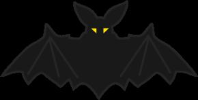 ハロウィン三日月とコウモリのイラスト 無料イラストフリー素材