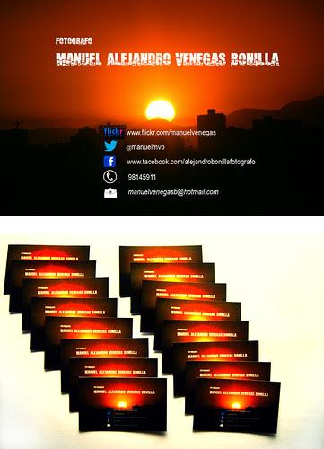 Mis tarjetas de presentación. by Alejandro Bonilla