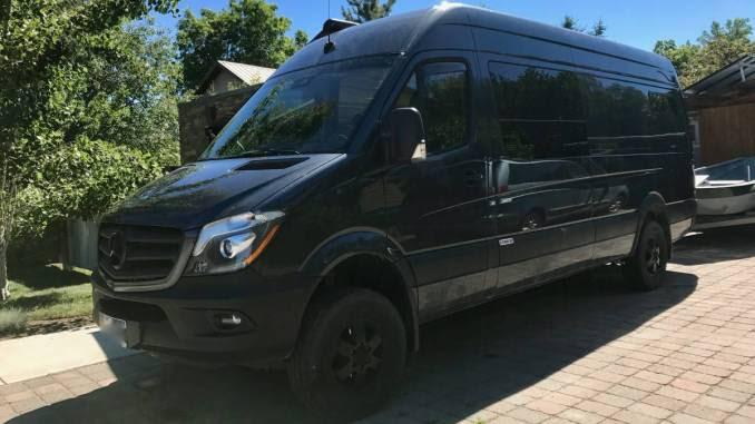 2015 Mercedes Sprinter 4X4 Converted Cargo Van Camper in ...