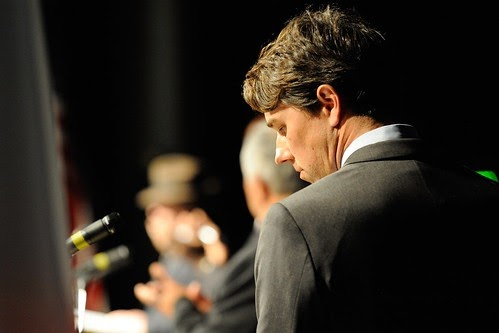 From flickr.com: Robert O'Rourke           Prepares for the Debate {MID-335671}