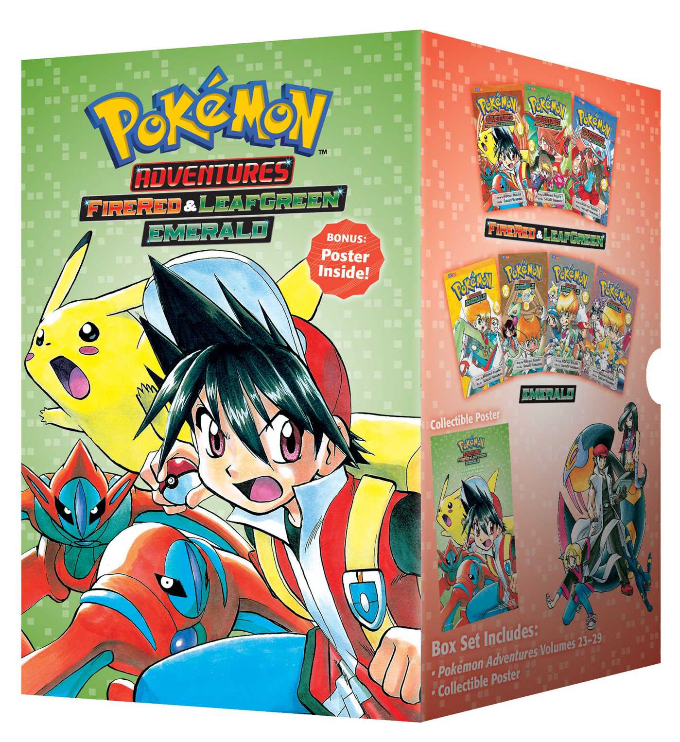 Pokémon Adventures Fire Red amp; Leaf Green / Emerald Box Set