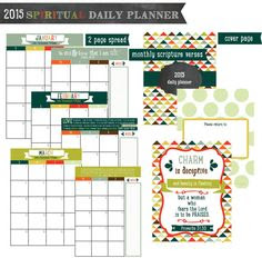 2017 printable planner with Bible verses and daily Bible reading ...