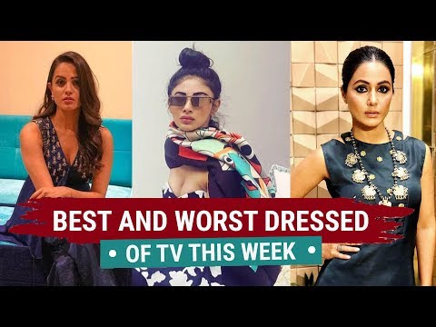WATCH #Bollywood | TV's Best and Worst Dressed CELEBRITY of the Week| Hina Khan, Mouni Roy, Anita Hassanandani #India #Fashion #Special