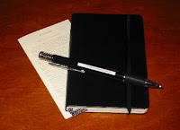 One of those Moleskine journals like the one in which I keep records of my play