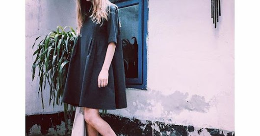 Thursday #dress #grey #streetstyle #feminine #minimal #geometric | Instagram | Pinterest