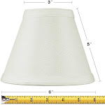 HomeConcept 3x6x5 Hard Back Empire Candle Clip Lamp Shade Light O | LampsUSA