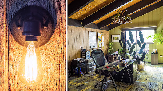 Outdoorsy Design: An indoor office with an Aging Forest soul - South Lake Tahoe faux finish studio