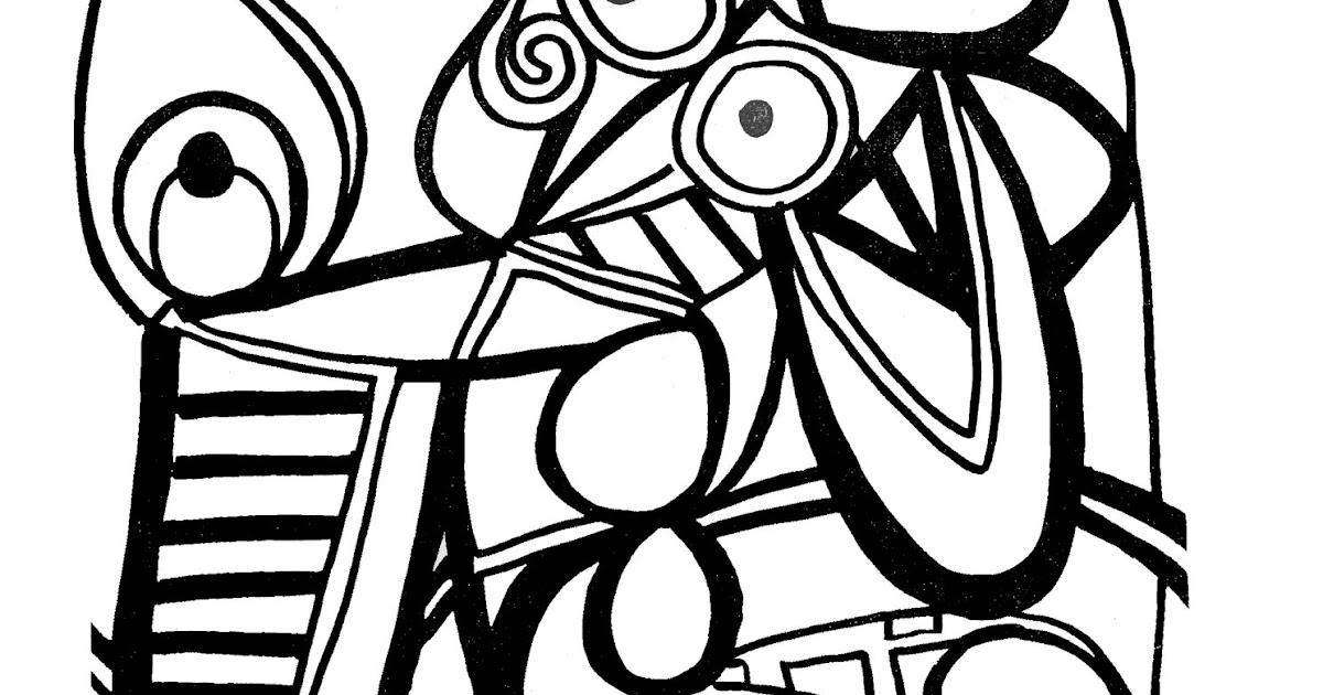 dessin coloriage portrait picaso  30000  collections de