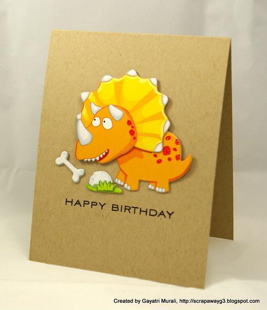 Dinaosaur card 2