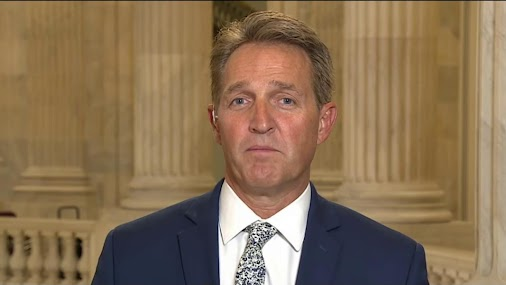 SENATOR JEFF FLAKE (R - ARIZONA) : WE CAN'T CONTINUE TO REMAIN ... SILENT http://www.msnbc.com/morning...