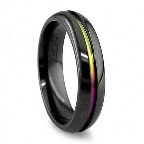 Radiance by Edward Mirell Men's 6.0mm Anodized Wedding