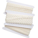 Bright Creations 3-Pack Lace Ribbon Trim, Beige, 10 Yards